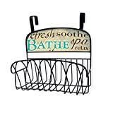 Stupell Home Décor Bathe Over The Door Organizer Basket, 11 x 11 x 6, Proudly Made in USA