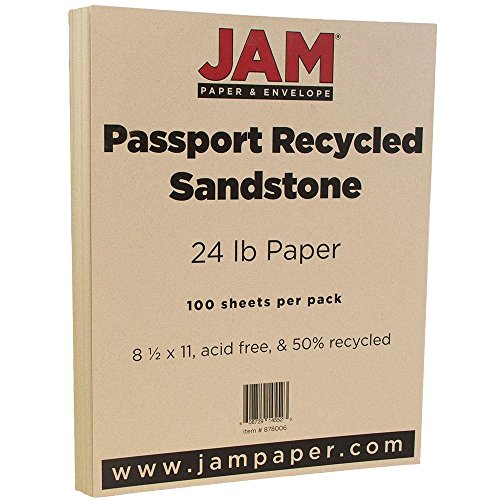jam-paper-recycled-paper-85-x-11-24-lb-sandstone-passport-100-pack