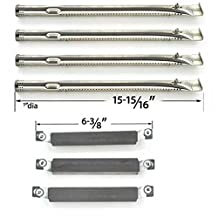 Repair Kit For Charbroil 463247310, 463257010 BBQ Gas Grill Includes 4 Stainless Steel Burners and 3 Crossover Tubes