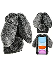 Cute Fluffy Furry Rabbit Shaped Cover for Galaxy S20 FE