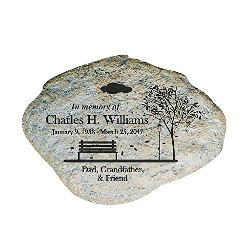 GiftsForYouNow Personalized Engraved Memorial Empty Bench Garden Stone, 11