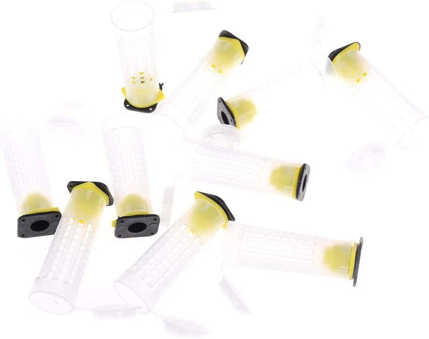 10pcs Beekeeping Queen Bee Roller Cages /& Cell Cup Holder /& Fixtures Rearing New