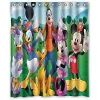zhanghui2018 Nueva cortina de ducha Disney personaje de dibujos animados tela duradera moho accesorios de baño creativo…