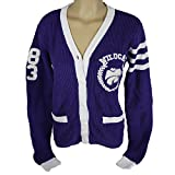 Glitter Gear Kansas State Wildcats Official NCAA Loose-fitting Cardigan W/Front Pockets And Embroidered Logo Knit Sweater S by