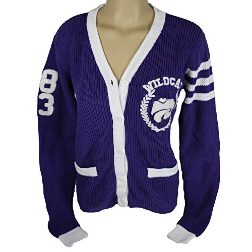 Glitter Gear Kansas State Wildcats Official NCAA Loose-fitting Cardigan W/Front Pockets And Embroidered Logo Knit Sweater S by by Glitter Gear