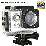 VIDEOPRO Underwater HD Camera 4K WiFi Sports Camera Waterproof DV Camcorder 16MP 2 inch LCD Silver