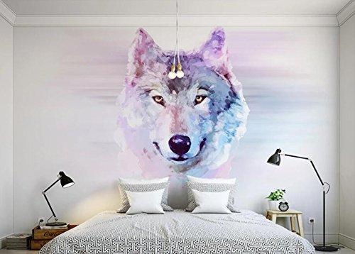 Keshj Benutzerdefinierte Fototapete 3D Tier Wolf Wandbild Tapete Wohnzimmer Schlafzimmer Sofa Hintergrund Dekorative Wand-200Cmx140Cm