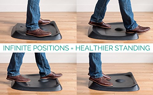 Topo by Ergodriven | The Not-Flat Standing Desk Anti-Fatigue Mat with Calculated Terrain [Must-Have for Any Standing Desk] (Obsidian Black)