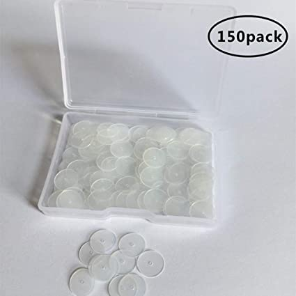 100Pcs Clear Color Plastic Resin Earring Back Safety Clutch Pads New Accessories