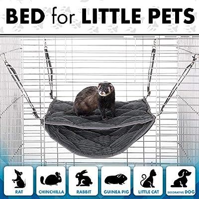 Homyl Soft Cylinder Hamster Cages Hanging Bed Hammock for Ferret Rabbit Rat Guinea Pig Squirrel