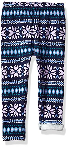Gymboree Girls' Toddler Warm & Fuzzy Jeggings, Purple fair isle, - Fleece Gymboree Girls Pants
