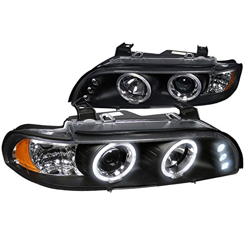 - Spec-D Tuning 2LHP-E3997JM-TM Bmw E39 528I 540I Dual Halo Led Black Projector Head Lights