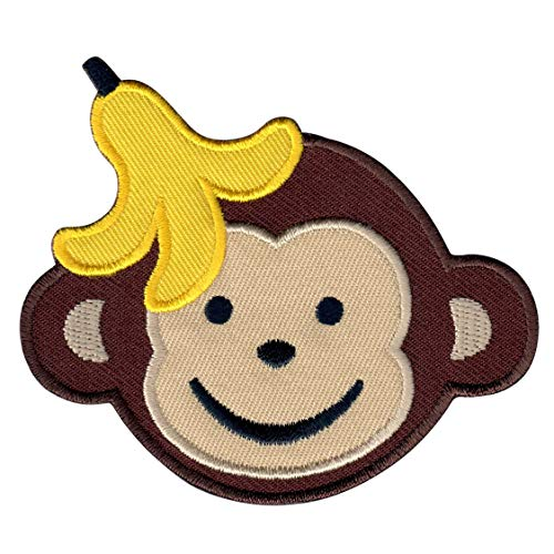 PatchMommy Iron On Patch, Boy Monkey - Appliques for Kids Children