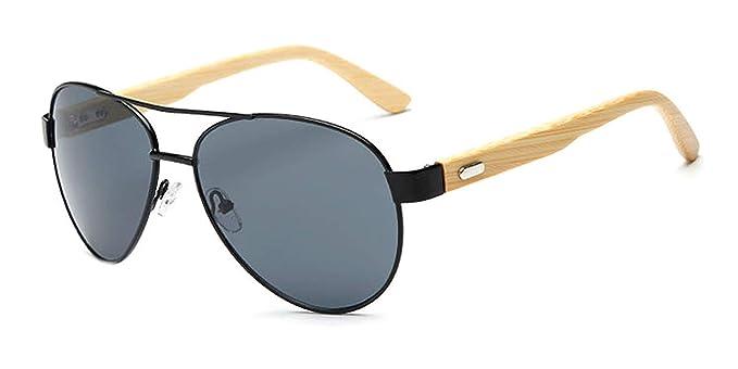 OULN1Y Gafas de sol Bamboo Sunglasses Men Wooden Metal Women ...
