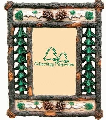 Amazon.com - Rustic Branch with Pine Trees & Pine Cones Photo Frame ...