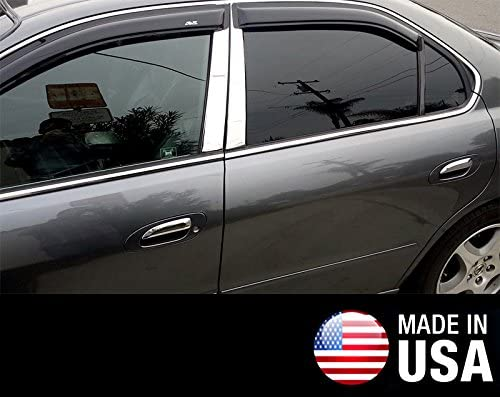 Works With 99-03 Acura TL 6 PC Stainless Steel Chrome Pillar Post Trim Made in USA