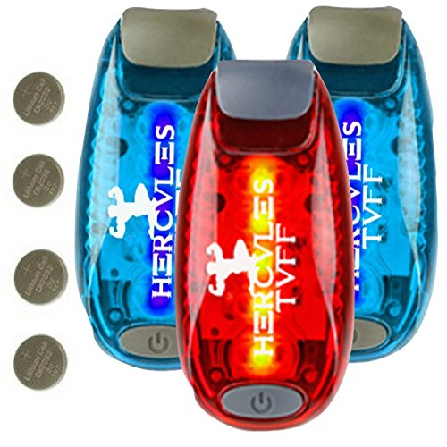 Hercules Tuff LED Safety Lights - [ 3 Pack ] - use for Walking Your Dog, Helmet Lights, Blinking Rear Bicycle Lights