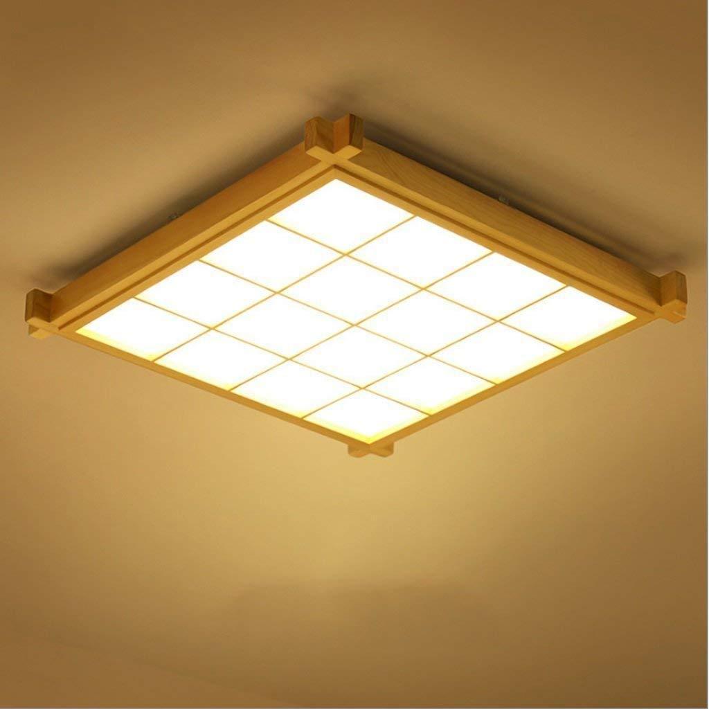 FuweiEncore Deckenleuchte LED Taschenlampe Lampe Thing von Holzdecke Lounge Schlafzimmer Ultradünne Kreative Fernbedienung Licht Licht (Farbe  48  48  6 cm) (Farbe   48  48  6cm)