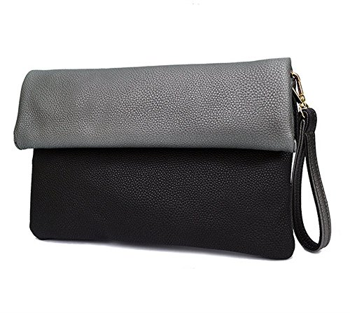 Ladies Envelope Bags Wristlet a Handbags Soft black01 BBG Crossbody S tracolla Bag Clutch Foldover Shoulder c85g7v