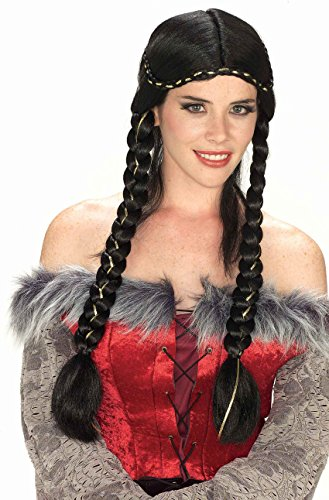 Braided Renaissance Wig (Renaissance Braided Wig Costume Accessory)