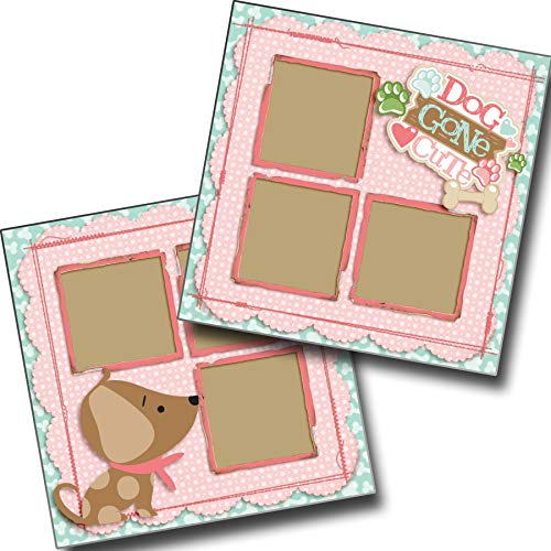Dog Gone Cute Girl - Premade Scrapbook Pages - EZ Layout 4016 ()