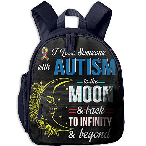 Autism To The Moon Classic School Backpack Bookbag Schoolbag For -