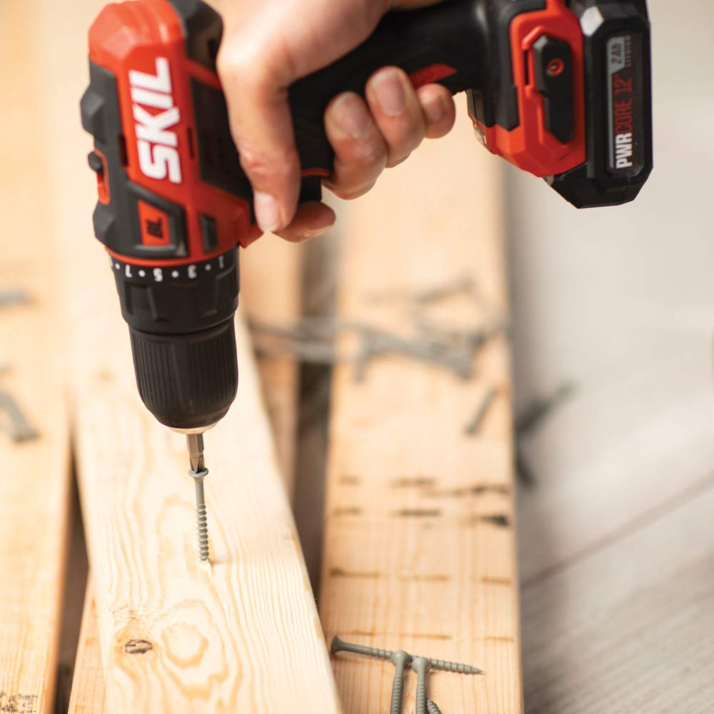 SKIL PWRCore 12 Brushless 12V 1/2 Inch Cordless Drill Driver, Includes 2.0Ah Lithium Battery and PWRJump Charger - DL529002 by Skil (Image #7)