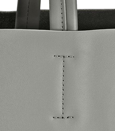 Femme pour Sac Main Zippée Poche avec Classique Amovible de à Monnaie clair Porte Basse Gris 8rBKgFq8w