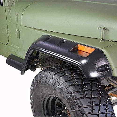 1988 Fender (E-Autogrilles 87-95 Jeep Wrangler YJ Pocket Rivet Style Front + Rear Fender Flares (17191))