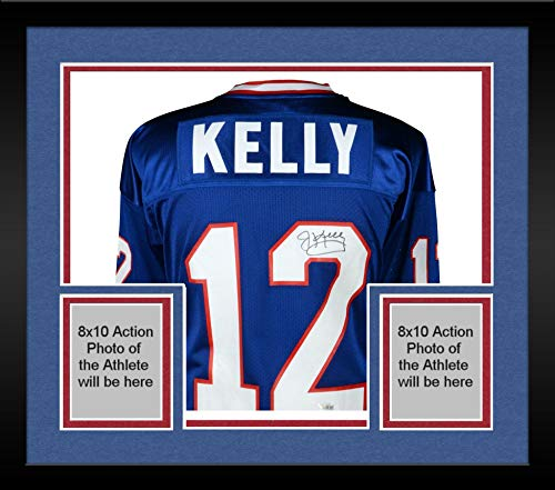 Framed Jim Kelly Buffalo Bills Autographed Blue Mitchell & Ness 1994 Authentic Jersey - Fanatics Authentic Certified ()