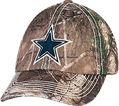 Dallas Cowboys Realtree Camouflage Hat Cap Adjustable Tree Camo One Size