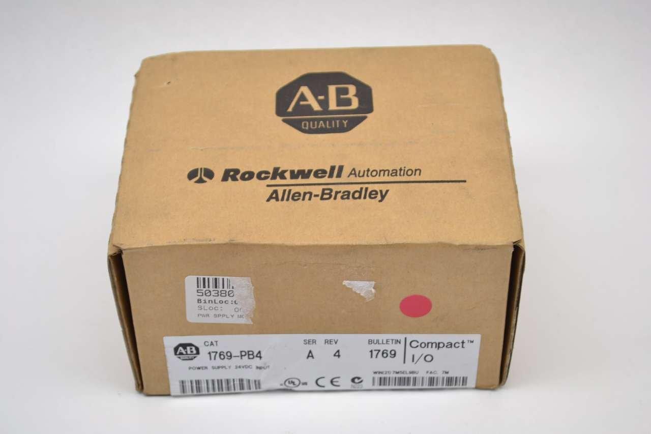 ALLEN BRADLEY 1769-PB4 COMPACT I/O SER A 24V-DC 4A REV 4 POWER SUPPLY B421989