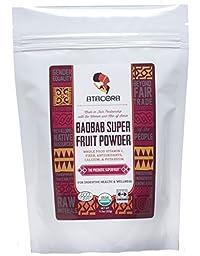 Atacora Fair Trade Certified Organic Baobab Super Fruit Powder 30 Day Supply In Travel-Ready Resealable BPA Free Bag, 11.5 Oz.