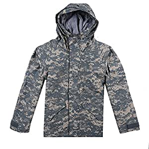 Shark skin coat outdoor military wear a military coat warm coat cold (ACU Camouflage)