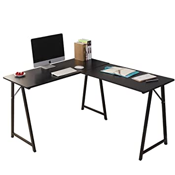 dland lshaped computer desk double home office pc laptop desk triangular fixed t