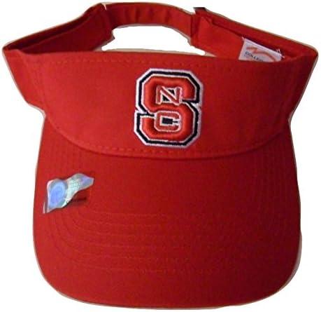 Collegiate Headwear NC State Wolfpack Interception Visor Cap Black