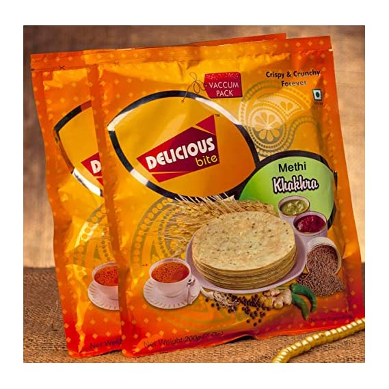 Deliciuos Bite Methi Khakhra (Pack of 4)