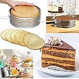 Layer Cake Leveler slicer Adjustable Cake Rings