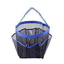 Ohuhu® Rustproof 8-pocket Shower Caddy, Perfect Dorm, Gym, Camp & Travel Tote Bag