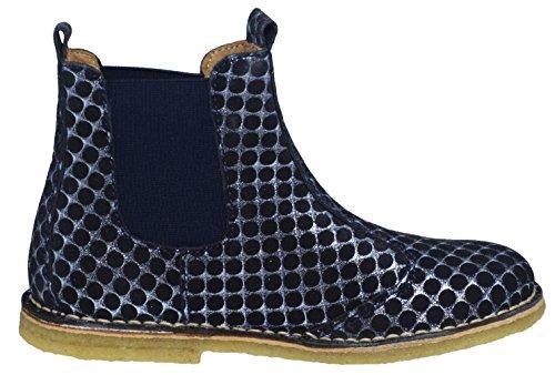 Bisgaard Unisex-Kinder Stiefelette Chelsea Boots Blau (Blue Dots)