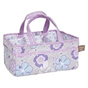 Trend Lab Grace Storage Caddy, Purple, Blue, Gray and White