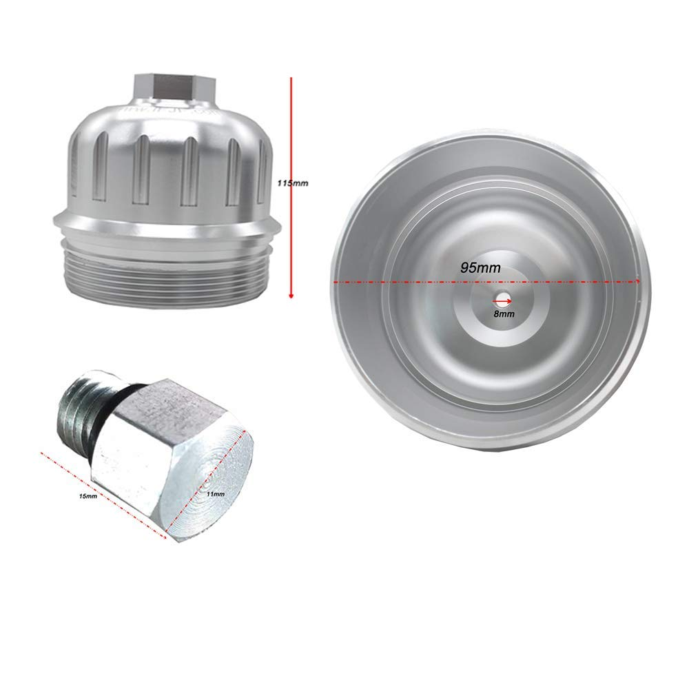 Galaxy Auto Billet Fuel Filter Housing Compatible with 2017-2019 Chevy//GMC 6.6L L5P Duramax Diesel