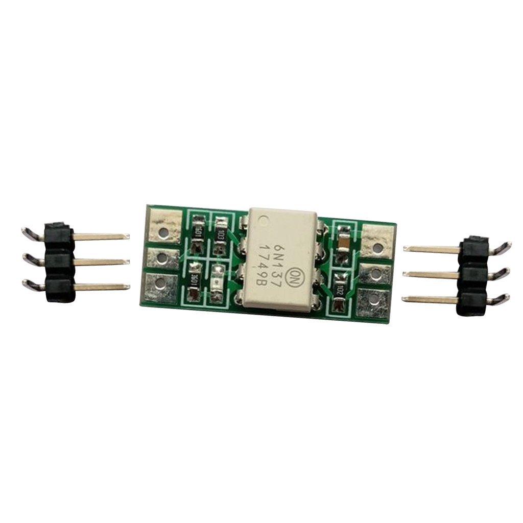 Homyl 6N137 DIP8 Optocoupler Isolation Module Output 5V NPN Input 3.3V 5V 12V 24V DC - 12V DC, as described