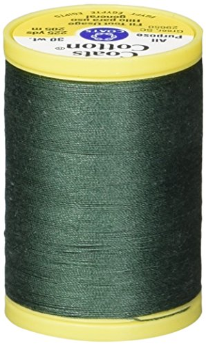 Coats: Thread & Zippers S970-6770 General Purpose Cotton Thread, 225-Yard, Forest Green ()