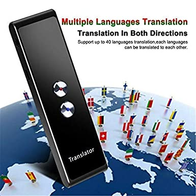 Bomoya AI Smart Language Translator Device High Definition Touch Screen,Support 30 Languages Accurate Smart for Business Chat Travel Abroad