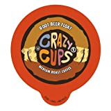 Crazy Cups Root Beer Float Flavored Coffee Single serve Cups for Keurig K cup Brewer (88 Count)