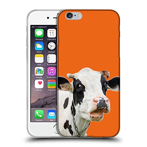 """GoGoMobile Coque de Protection TPU Silicone Case pour // Q05710632 Vache curieuse Arancione sicurezza // Apple iPhone 6 PLUS 5.5"""""""