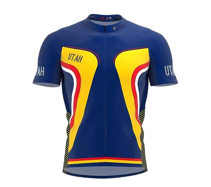 Amazon.com  ScudoPro Utah Bike Short Sleeve Cycling Jersey for Men ... b4f72ee41