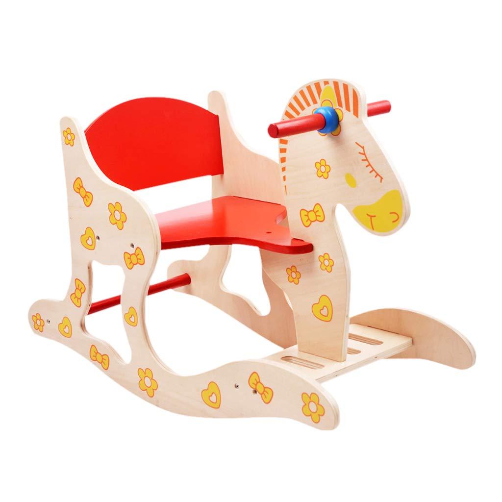 QIQIDEDIAN 幼稚園早期教育パズル子供のトロイの木馬ロッキング馬ロッキングチェア赤ちゃんおもちゃ誕生日ギフト B07K2S1HLF
