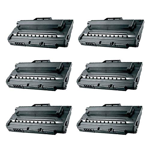KCMYTONER Compatible ML2250 Toner Cartridge Replacement to Use with Samsung ML-2250 ML-2251N ML-2251NP ML-2251W ML-2252W Series Printer (Black, 6 Pack) ()